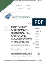 Cfp Turkey and Romania Histori