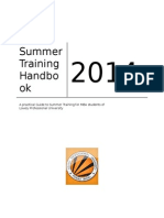 Summer Training Handbook LPU