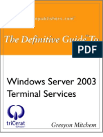 Windows Server 2003 - Terminal Services