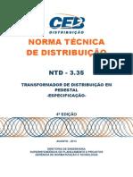 Ntd 3.35 - Transformador de Distribuicao Em Pedestal - Especificacao - 4a Ed