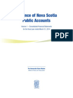 Nova Scotia Public Accounts 2014 - Volume 1