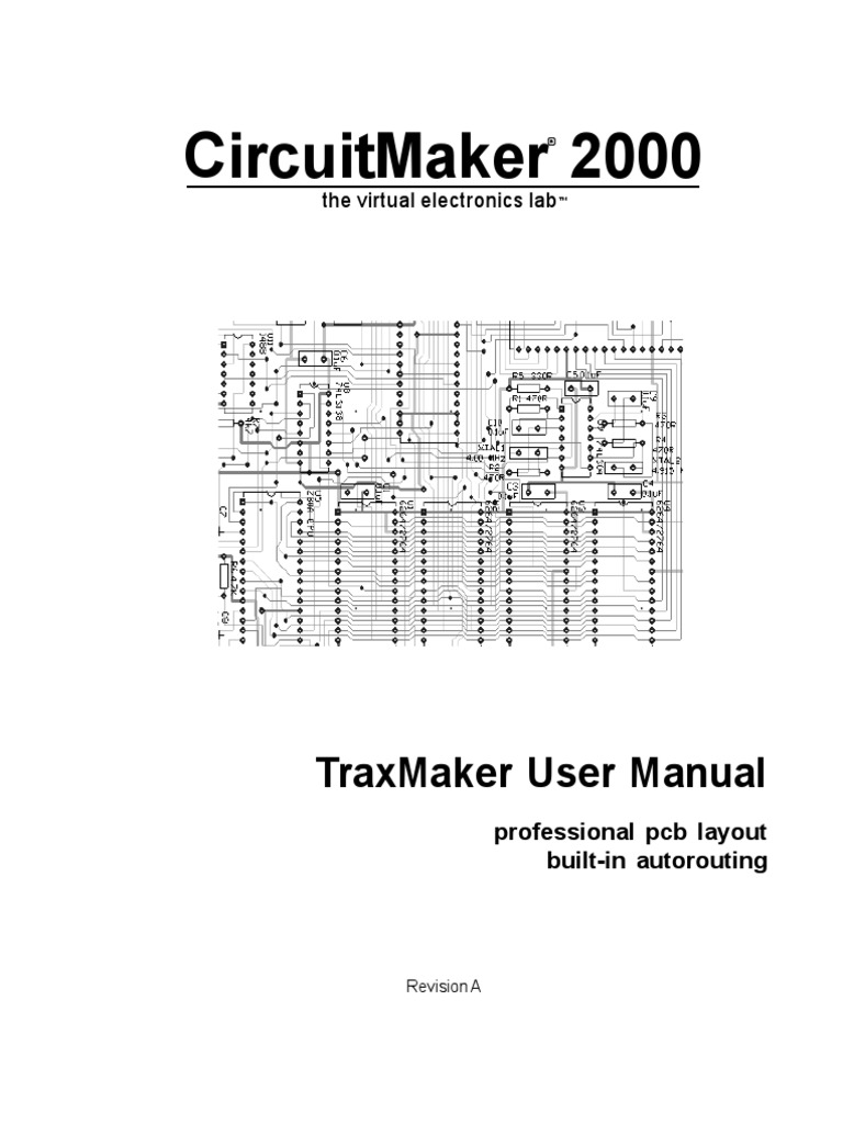Traxmaker Manual Printed Circuit Board Icon Computing For Pcb Design Including Schematic Capture Layout And Autorouter