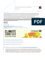 Reiterating My Plea for Mr Tillerson to Attend the UN Climate Summit 2014
