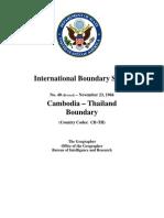 Cambodia Thailand Boundary