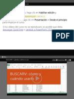 Uso de Buscarv en Excel