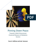 A Pinning Down Peace