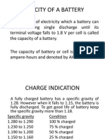 Capacity of a Battery