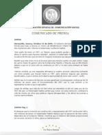 12-10-2009  Guillermo Padrés  en conferencia  de prensa anunció la construcción de un CRIT; en otro tema mencionó que este martes a un mes de haber asumido la gubernatura, informará sobre los logros obtenidos, entre los que contabilizo la cancelación de la venta de Telemax.  B100956