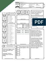 Madagascar Character Sheet