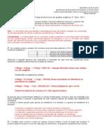 1a Lista de Exercícios Análise Orgânica I - Gabarito
