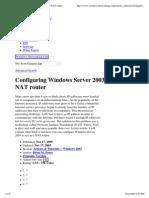 Configuring Windows Server ..