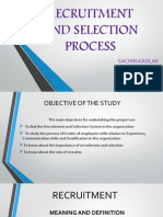 Recruitment and Selection Process Sachin Kadlak