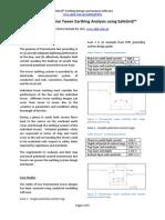Transmission Line Tower Earthing Analysis Using SafeGrid