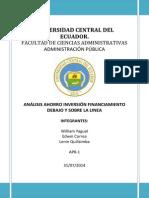 Presentacion Cuenta Ahorro,Inversion, Financiamiento