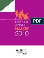 Haute Autorité de Lutte Contre Les Discriminations Et Pour l'Égalité - Rapport Annuel 2010