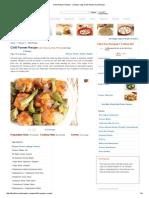 Chilli Paneer Recipe - Chinese Veg Chilli Paneer Dry Recipe