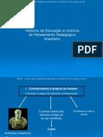 História Da Educação e História Do Pensamento Pedagógico Brasileiro