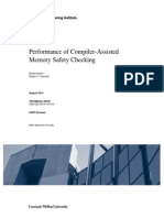 Performance of Compiler-Assisted Memory Safety Checking