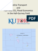 Pipeline Transportation of CO2 & Economics of a Full Field CO2 Flood in Hall-Gurney