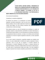 31-07-14 Palabras Marco Bernal- Presentación Ley de Órganos Reguladores Coordinados