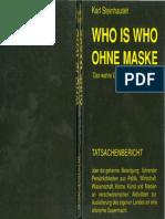 Who is Who Ohne Maske_das Wahre Gesicht Von Österreichs Freimauerei_Steinhauser_1992