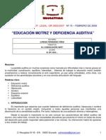 Educacion Motriz y Deficiencia Auditiva