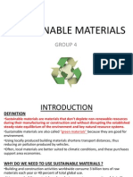 Sustainable Materials