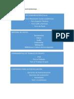 Estructura Plataforma Virtual de Epidemiologìa