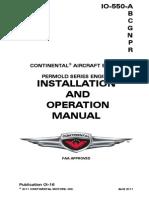 Engine Continental IO-550 Operators_Manual