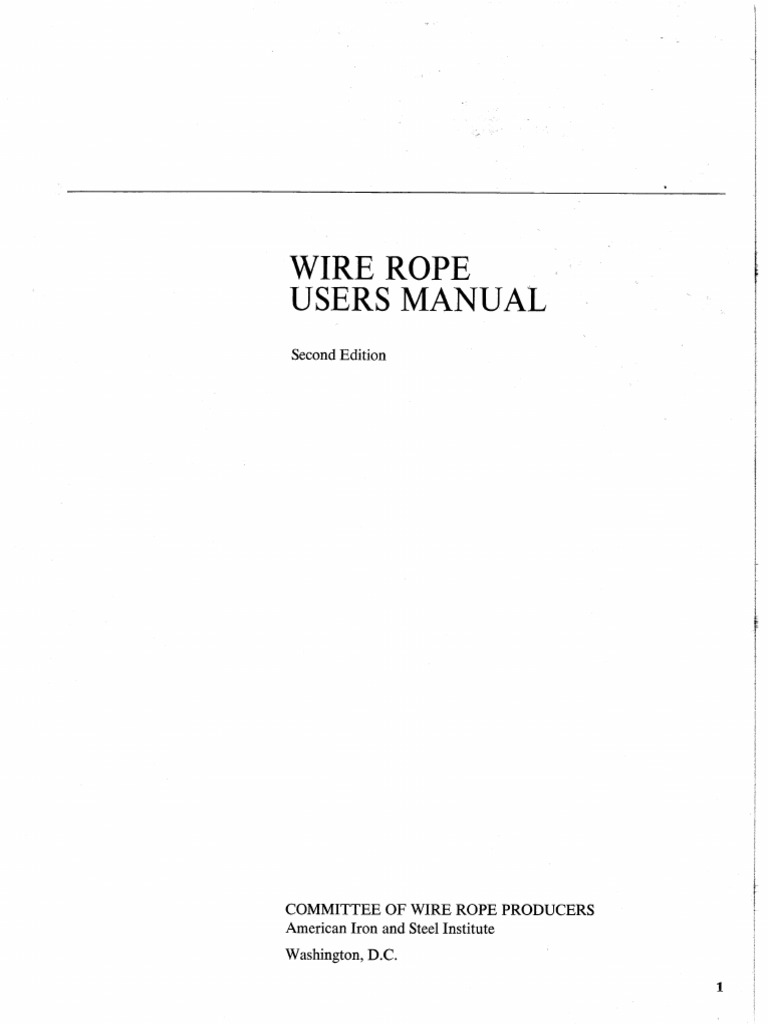 Wire Rope Users Manual | Rope | Wire