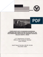 Audit Compliance of CODIS at SWIFS December 2009 - Copy