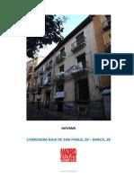 Informe sobre el edificio blasonado (Orden de Malta) en las calles c/ Corredera 20 y c/ Barco 39