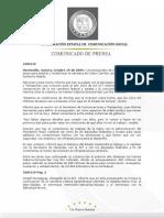 19-10-2009  Guillermo Padrés  en conferencia de prensa anunció un presupuesto de 5 mil millones de pesos  para ampliar y modernizar la carretera de 4 carriles. Lamentó la muerte de un menor en el golfo de Santa Clara.  B1009110