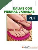 04. Sandalias Con Piedras Variadas