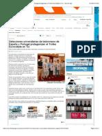 Selecciones Universitarias de Balonmano de España y Portugal Protagonizan El Trofeo Eurocidade en Tui - Faro de Vigo