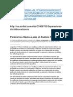 Parámetros Básicos Para El Análisis PVT