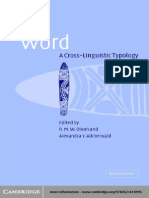 Word - A Crosslinguistic Typology