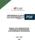 Manual de Experiencia Profesional PMBOK 2009