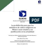 La Prohibicion Para Los Ministros de Cultos Carlos Alberto Ferrer Silva