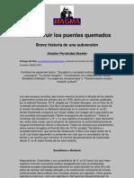 Amador Fernández-Savater - Reconstruir Los Puentes Quemados. Breve Historia De Una Subversión