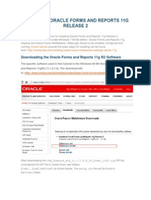 INSTALLING ORACLE FORMS AND REPORTS 11G RELEASE 2 pdf