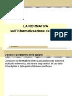 1_La Normativa Sulla Informatizzazione Della P.a.