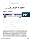 Judith Butler · Who Owns Kafka? · LRB 3 March 2011