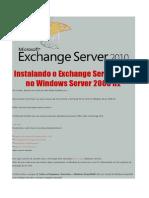 Instalando o Exchange Server 2010 No Windows Server 2008 R2