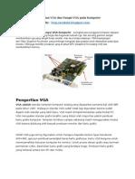 Pengertian VGA Dan Fungsi VGA Pada Komputer