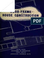 Wood Frame House Construction