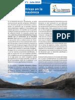 Primer boletín informativo sobre hidroeléctricas en la cuenca amazónica