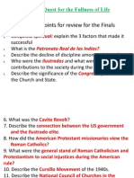 TREDONE Review Questions for the Final Oral Exam