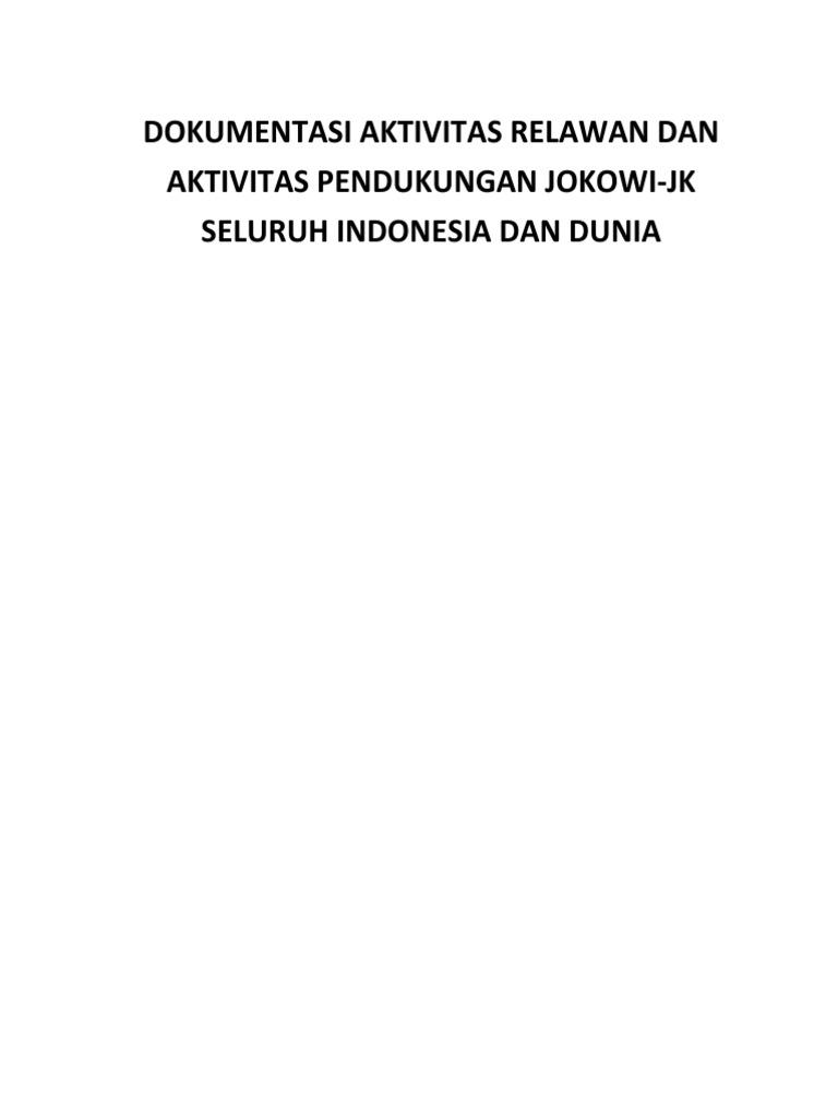 Dokumentasi Aktivitas Relawan Jokowi