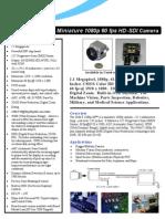 1080p 60fps 3G Industrial Camera